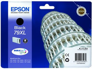 EPSON cartridge T7901 black (šikmá věž) XL